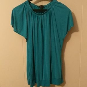 Banana republic 100% silk short bell sleeve blouse